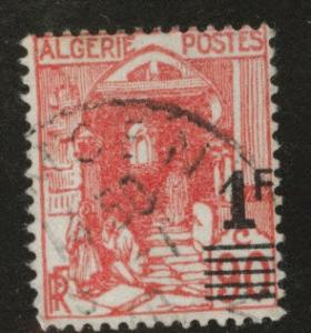 ALGERIA Scott 131 used surcharged stamp from 1939-1940
