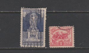 USA Postal Stamps Used American Revolution