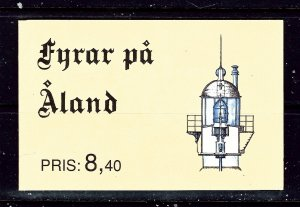 Finland-Aland 67a Complete Booklet 1992 Lighthouses