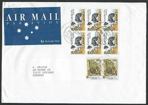 AUSTRALIA 1996 airmail cover to New Zealand - nice franking, Dogs..........12992