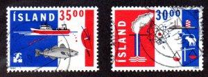 ICELAND 752-3 USED SCV $2.50 BIN $1.50 EXPORT, TRADE