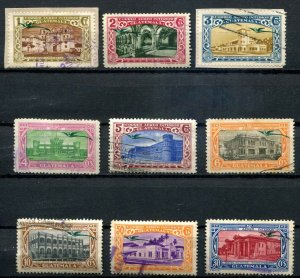 Guatemala SC# C100-6, C108-9  Quetzal and  Views Used SCV $2.40