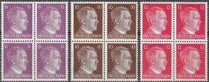 Stamp Selection Germany Block WWII Fascism Hitler War 6 10 12 MNH