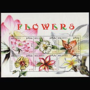 MALDIVES 2009 - Scott# 2992 Sheet-Flowers NH