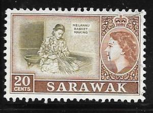 Sarawak 205: 20c Melanau basket making, used, F-VF