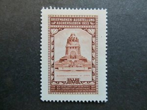 A4P2F29 Germany Poster Stamp 1933 International Philatelic Exhibition MNG