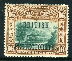 NORTH BORNEO-1901-5 16c Green & Chestnut Perf 14½x15.  A mounted mint example Sg