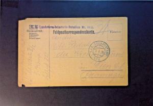 Austria 1916 Fieldpost Landstorm Batallion (Light Creasing) - Z740