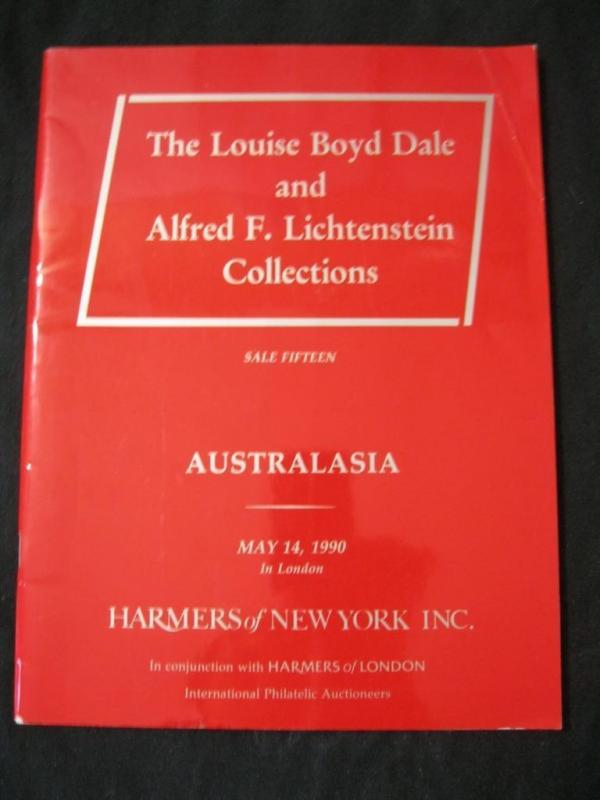 HARMERS AUCTION CATALOGUE 1990 AUSTRALASIA BOYD DALE & LICHTENSTEIN COLLECTION