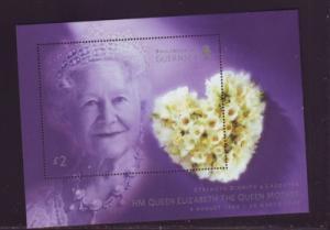 Guernsey Sc 783 2002 Queen Mother Memorial stamp sheet mint NH