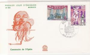 Monaco 1979 Celeb. Centenary of Opera Opera House Slogan FDC Stamp Cover Rf26431