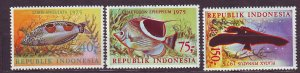 J22759 JLstamps 1975 indonesia set mnh #959-61 colorful fish