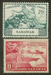 Sarawak 176, 178 Used VF (176 CR0