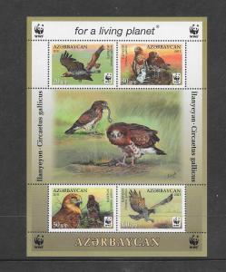 BIRDS - AZERBAIJAN #967e  WWF ISSUE  MNH