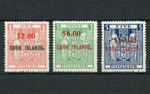 COOK ISLANDS  SCOTT#192/94  SURCHARGES  MINT NEVER  HINGED ORIGINAL GUM