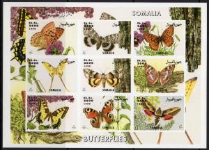 Somalia 1999  Butterflie/ Insects Nature Sheetlet (9) IMPERF.MNH