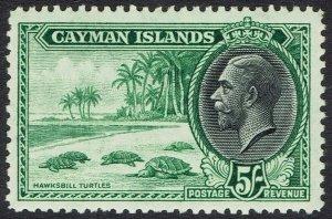CAYMAN ISLANDS 1935 KGV TURTLES 5/-