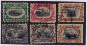 US SCOTT 294-299 USED PAN-AMERICAN EXPOSITION SERIES 1901 F-VF
