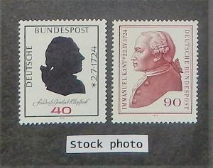 Germany 1143-44. 1974 40pf-90pf Klopstock, Kant, NH