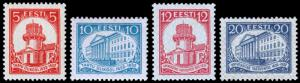 Estonia Scott 108-111 (1932) Mint H/LH VF Complete Set, CV $21.90