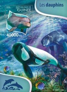 Guinea MNH S/S Dolphins Marine Life 2015