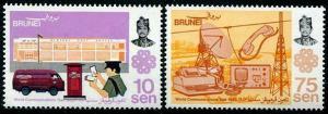 HERRICKSTAMP BRUNEI Sc.# 294-95 Communications Year