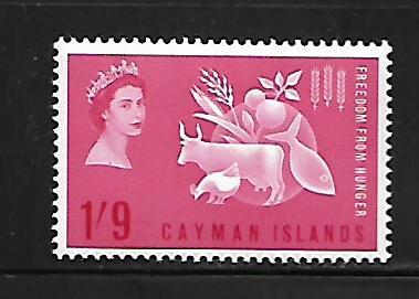 CAYMAN ISLANDS, 168, MNH, FREEDOM FROM HUNGER