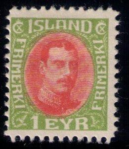 Iceland Scott #108 MLH,OG FINE