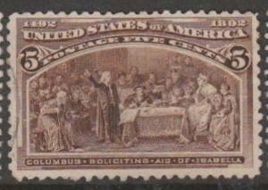 U.S. Scott #234 Columbian Stamp - Used Single