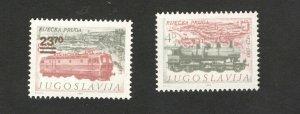 YUGOSLAVIA-MNH SET- LOCOMOTIVE-FIUME- 1983.