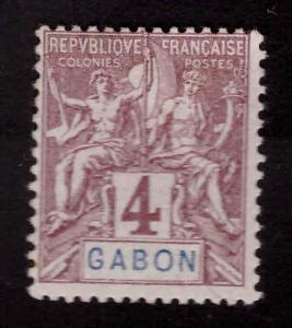 GABON Scott 18 MH* Navigation and Commerce stamp