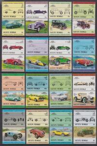 Tuvalu Vaitupu 1984-85 Cars 1-16 MNH