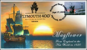 20-302, 2020, Plymouth 400, Event Cover, Pictorial Postmark, Mayflower, SC 5524