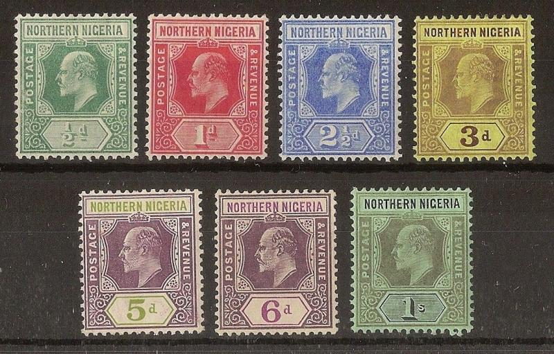 Northern Nigeria 1910 Mint Selection (7v)