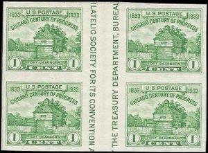 766a Mint,NGAI,NH... Vertical Gutter Block of 4... SCV $14.00