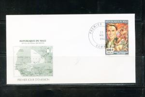 MALI   1994  ARNOLD SCHWARZENNGER   STAMP  FIRST DAY COVER