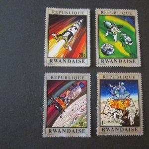 Rwanda 1970 Sc 373-8 space set MNH