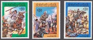 Libya 1984 Scott 1216-1218 Evacuation Day MNH