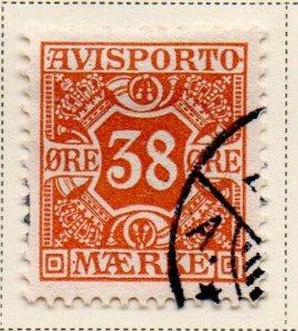 Denmark Sc P6 1907 38 ore Newspaper stamp used