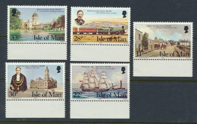 Isle of Man - SG 274-278  SC# 267-271  MUH William Cain