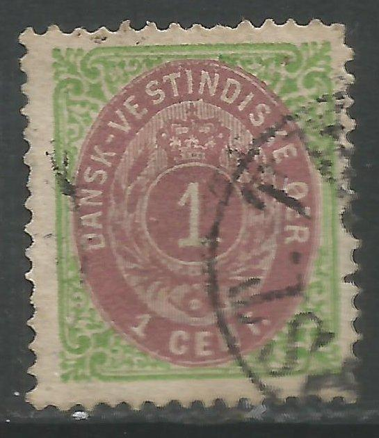 DANISH WEST INDIES 5 VFU Q002