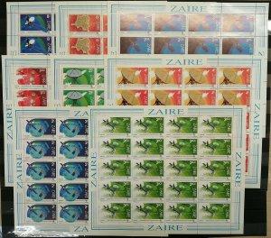 GU14 1983 ZAIRE SPACE SATELLITES #822-829 MICHEL 160 EURO !!! 20SET MNH