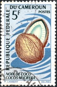 CAMEROUN - 1967 - Mi.510 5fr Coconut (Cocos nucifera) - Used