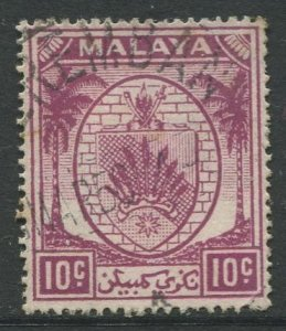 STAMP STATION PERTH Negri Sembilan #46 Arms Definitive Used 1949-55