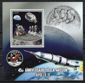 Congo MNH S/S Apollo 11 Astronauts Space 2015