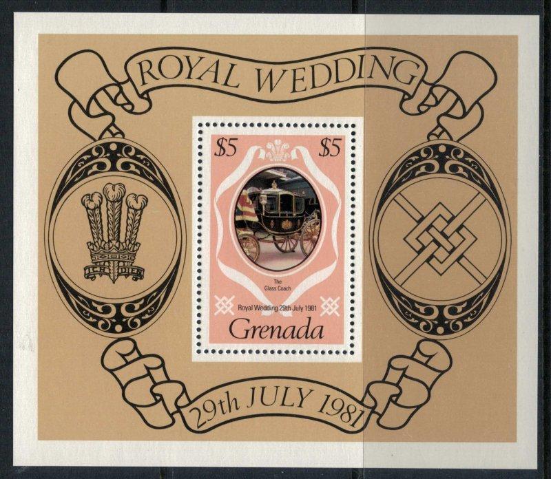 Grenada #1051-4* NH CV $1.85 Charles & Diana royal wedding set & souvenir sheet