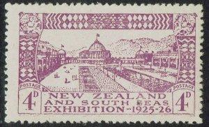 NEW ZEALAND 1925 DUNEDIN EXHIBITION 4D VARIETY 'POSTAGF'