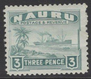 NAURU SG31B 1947 3d GREENISH GREY MTD MINT