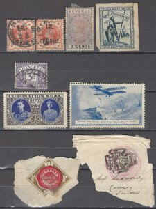 COLLECTION LOT OF #1047 GREAT BRITAIN 9 BOB STAMPS 1888+ CLEARANCE