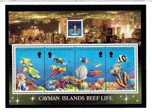 Cayman Is 676 MNH 1994 Cayman Islands Reef Life S/S    (KA)